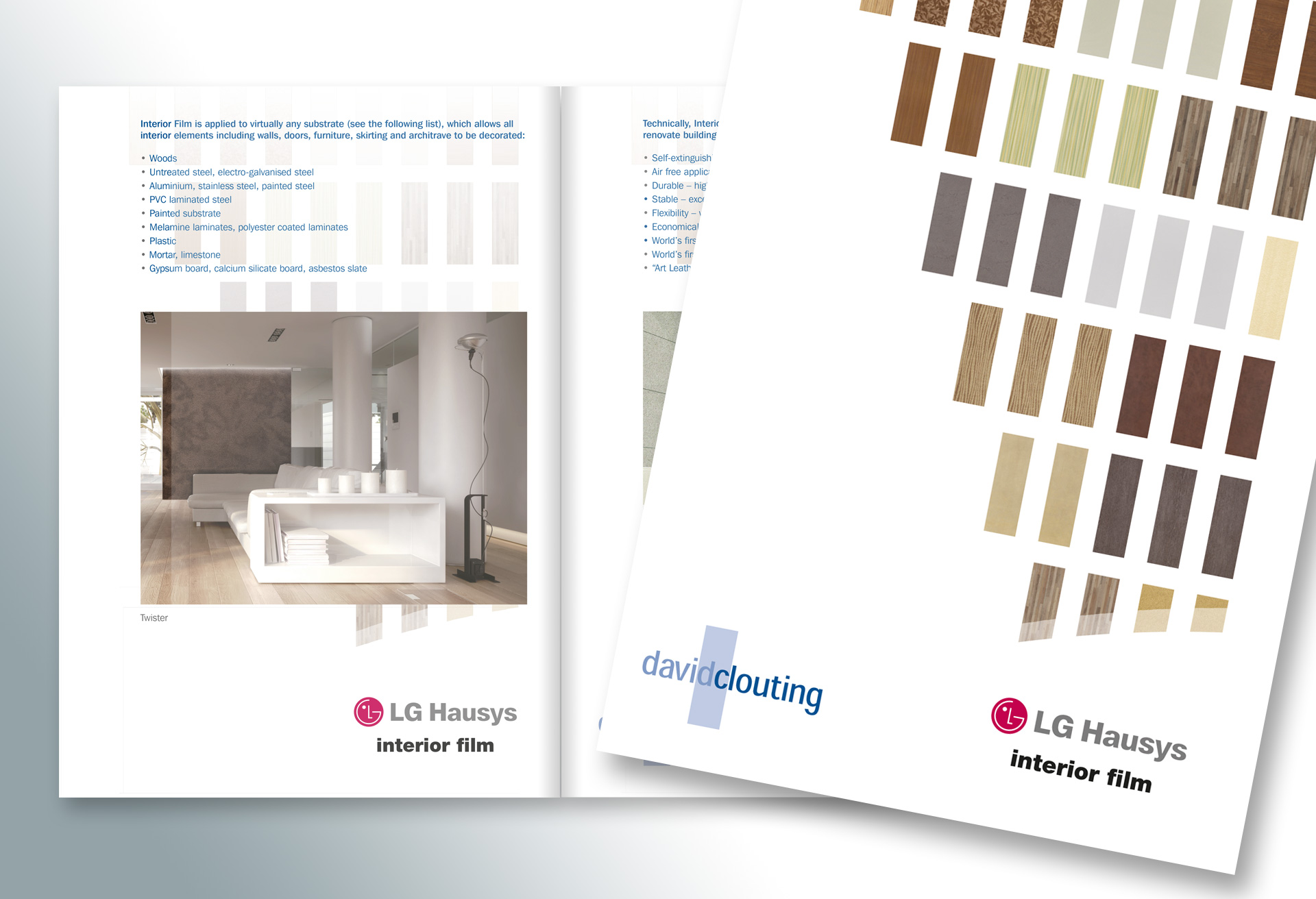David Clouting Ltd - Brochure design