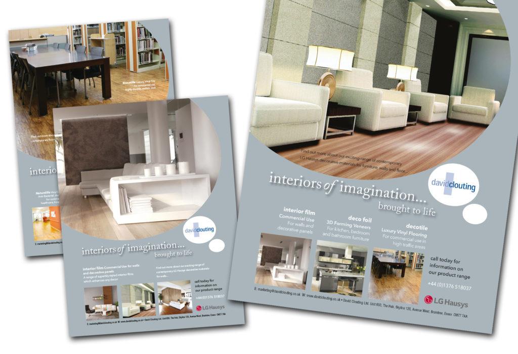 David Clouting Ltd - Advert design
