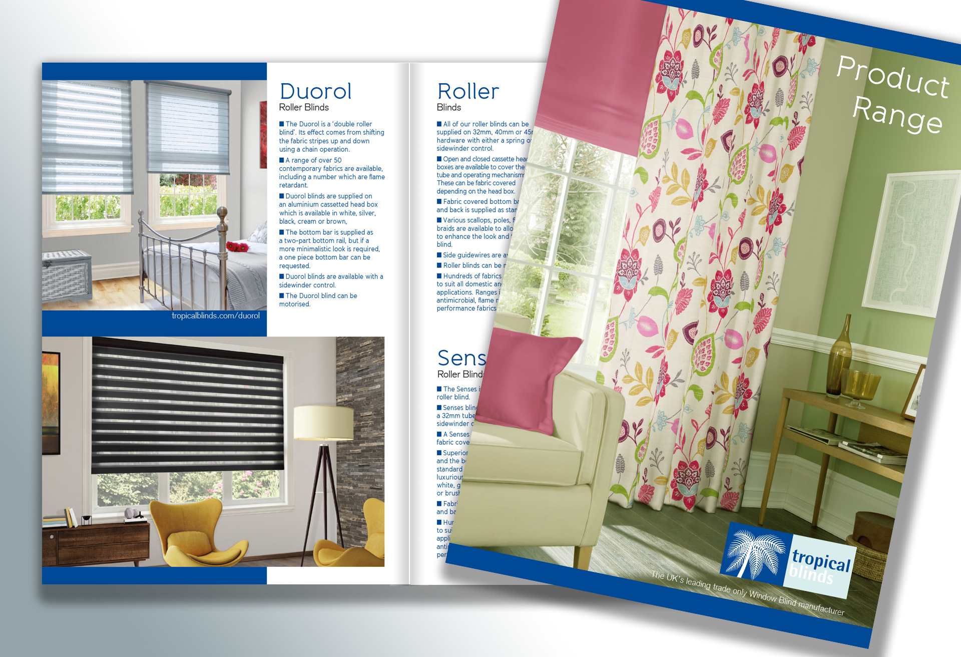 Tropical Blinds - Brochure design