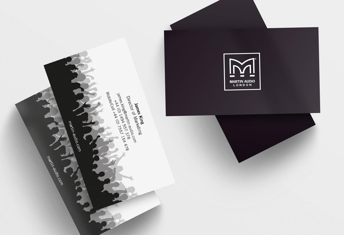 Martin Audio - Business card design