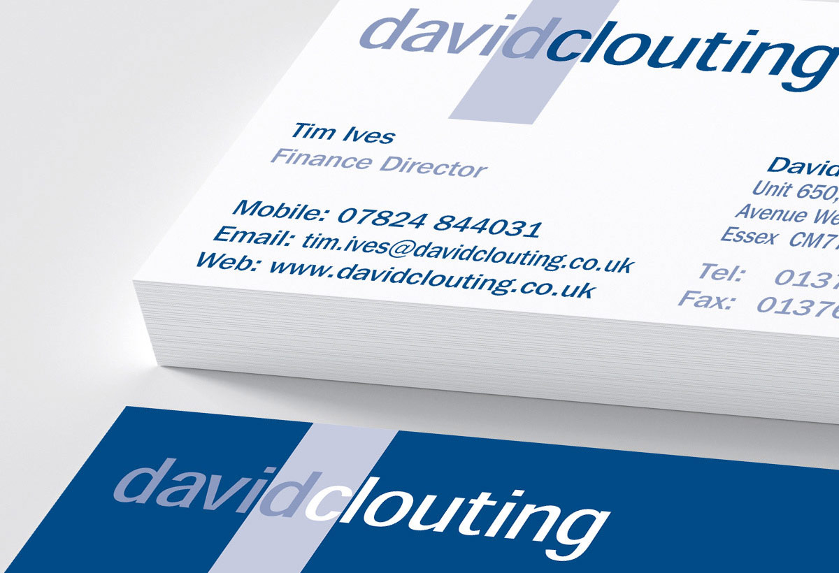David Clouting Ltd - Business card design