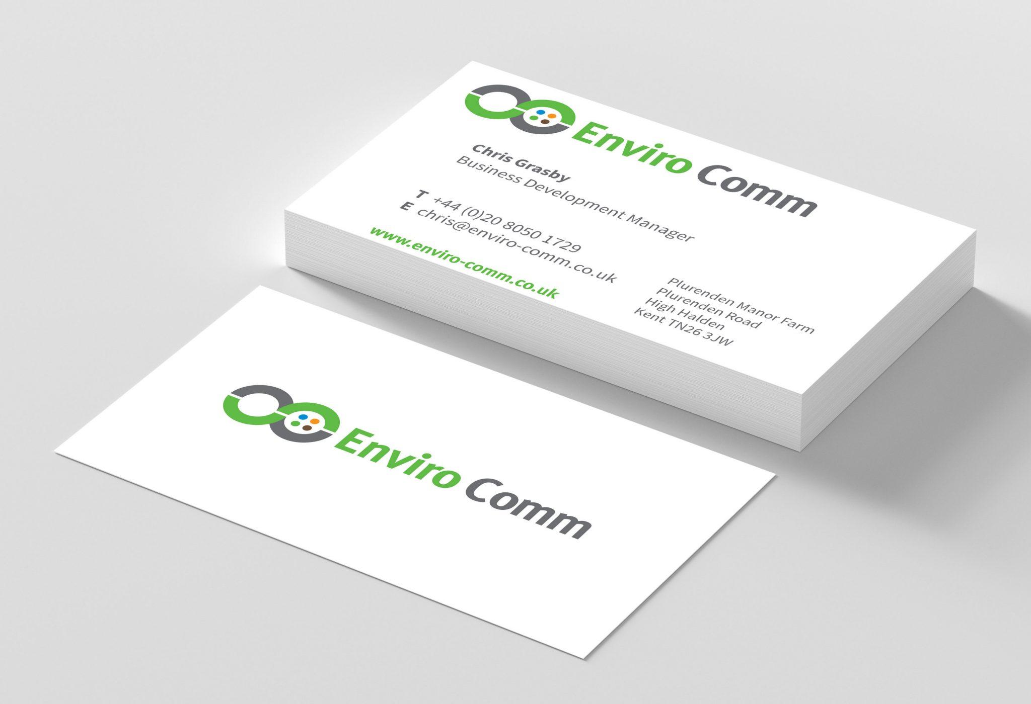 Enviro Comm - business card design