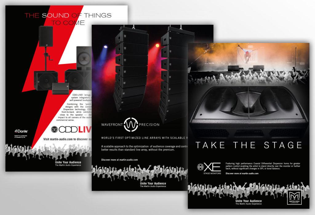 Martin Audio - Advert designs