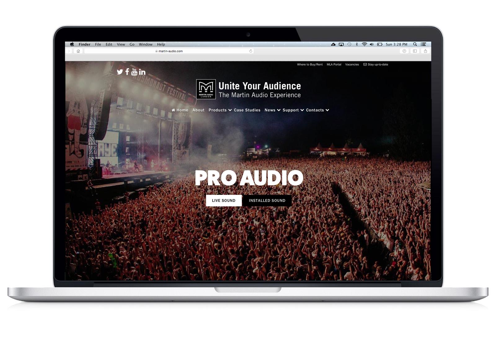 Martin Audio - Website design and build