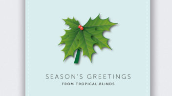 Tropical Blinds - Christmas Card Designs