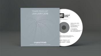 Tropical Blinds - CD-ROM design